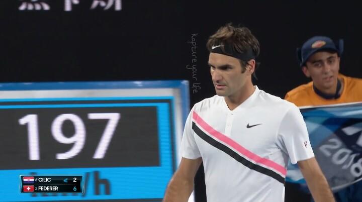 Marin Čilić Vs Roger Federer - 1° set