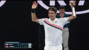 Roger Federer, new winner